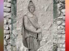 D'après une statue de Cautopatès, Mithraeum de Bordeaux, IIIe siècle apjc, Gironde, Gaule Romaine. (Marsailly/Blogostelle)