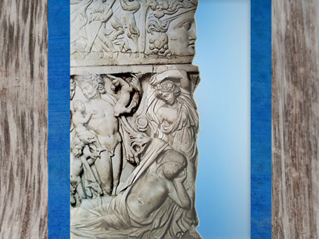 D'après Ariane endormie, fin IIIe siècle apjc, sarcophage dionysiaque, Gironde, Gaule Romaine. (Marsailly/Blogostelle)