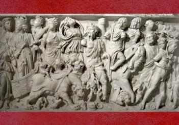 D'après le Triomphe de Bacchus, sarcophage, IIIe siècle apjc, Gaule Romaine, Lyon, France,Gaule Romaine. (Marsailly/Blogostelle)