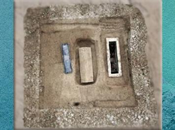 D'après les sépultures de Naintré, IVe siècle apjc, Vienne, Poitou, France,Gaule Romaine. (Marsailly/Blogostelle)