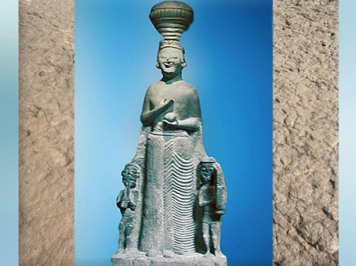 D'après la déesse phrygienne Kybele-Agdistis, VIe siècle avjc, Anatolie, Ankara, Turquie, époque Romaine. (Marsailly/Blogostelle)