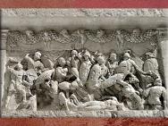 D'après les reliefs du mausolée de Julius, fin Ier siècle avjc, fantassins, Saint-Remy-de-Provence, France,Gaule Romaine. (Marsailly/Blogostelle)