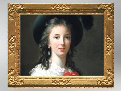 D'après unautoportrait de l'artiste, détail, 1786, Élisabeth Louise Vigée Le Brun. (Marsailly/Blogostelle)