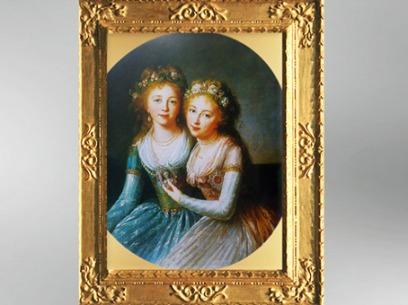 D'après Alexandra et Elena Pavlovna, filles de Paul Ier de Russie, vers 1796, Élisabeth Louise Vigée Le Brun. (Marsailly/Blogostelle)