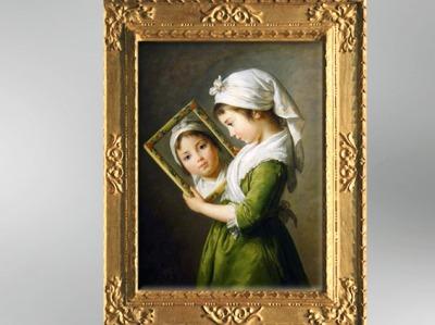 D'aprèsJeanne Julie Louise Le Brun au Miroir, 1787, Élisabeth Louise Vigée Le Brun. (Marsailly/Blogostelle)