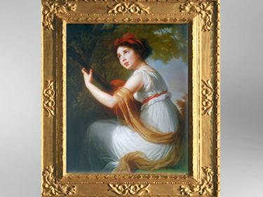 D'après un Julie Le Brun jouant de la guitare, vers 1797, Élisabeth Louise Vigée Le Brun. (Marsailly/Blogostelle)