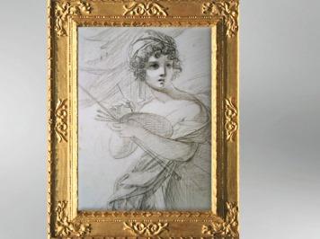 D'après un autoportrait de l'artiste, dessin, vers 1800, Élisabeth Louise Vigée Le Brun. (Marsailly/Blogostelle)