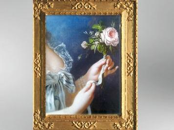 D'après la Rose de Marie-Antoinne, détail, 1783, Élisabeth Louise Vigée Le Brun. (Marsailly/Blogostelle)