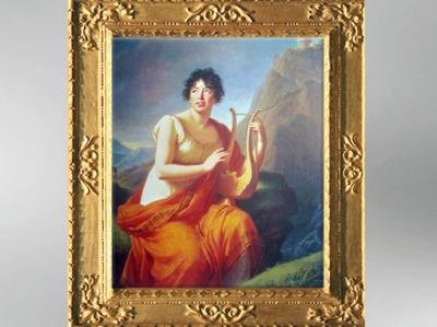 D'après un portrait de Madame de Staël en Corinne, 1809, Élisabeth Louise Vigée Le Brun. (Marsailly/Blogostelle)