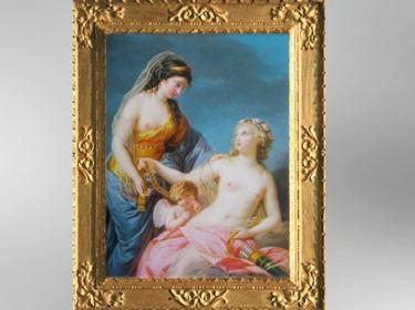 D'après le thème de Junon empruntant la ceinture de Vénus, 1783, Élisabeth Louise Vigée Le Brun. (Marsailly/Blogostelle)