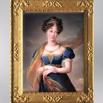 D'après la Duchesse de Berry, 1824, Élisabeth Louise Vigée Le Brun. (Marsailly/Blogostelle)
