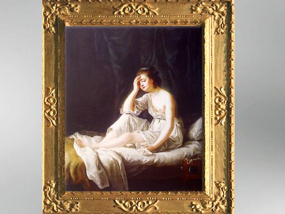 D'après La Vertu Irrésolue, vers 1791, Élisabeth Louise Vigée Le Brun. (Marsailly/Blogostelle)