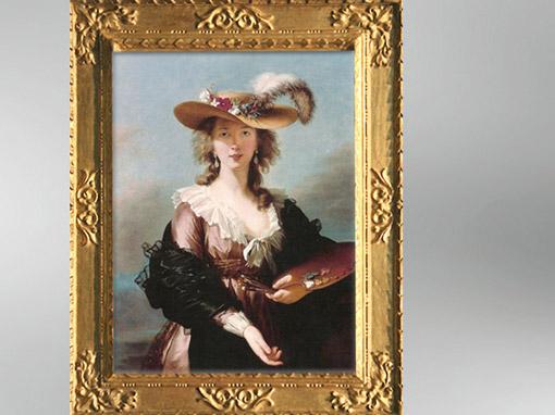D'après un autoportrait au Chapeau de Paille, 1781-1782, Élisabeth Louise Vigée Le Brun. (Marsailly/Blogostelle)