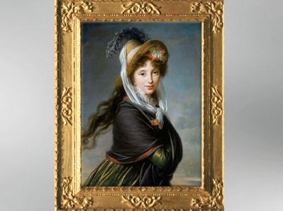 D'après un portrait de Jeune Femme au chapeau, vers 1797, Élisabeth Louise Vigée Le Brun. (Marsailly/Blogostelle)