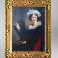 D'après un autoportrait de l'artiste, vers 1791, Élisabeth Louise Vigée Le Brun. (Marsailly/Blogostelle)