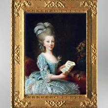 D'après un portrait de Jeune Femme au ruban, 1777, pastel, Élisabeth Louise Vigée Le Brun. (Marsailly/Blogostelle)