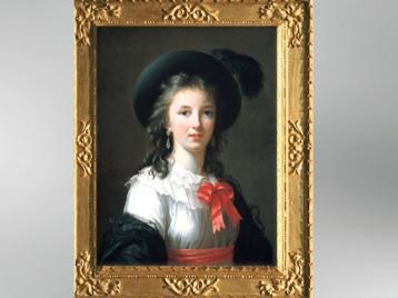 D'après un autoportrait au ruban, 1783, Élisabeth Louise Vigée Le Brun. (Marsailly/Blogostelle)