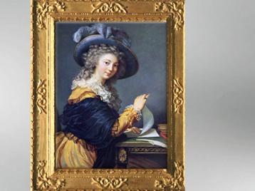 D'après une Femme pliant une lettre, 1784, Élisabeth Louise Vigée Le Brun. (Marsailly/Blogostelle)