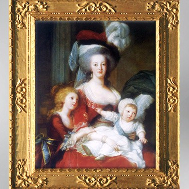 D'après Marie-Antoinette et ses enfants, détail, 1789, Élisabeth Louise Vigée Le Brun. (Marsailly/Blogostelle
