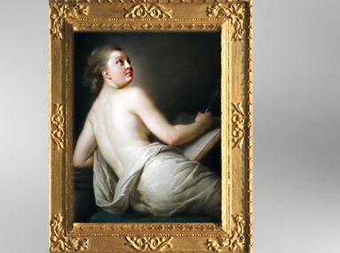 D'après une Allégorie de la Poésie, 1774, Élisabeth Louise Vigée Le Brun. (Marsailly/Blogostelle)