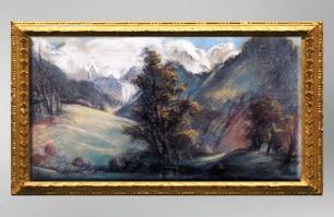 D'après une Vue du Lac de Chelles au Mont Blanc, 1807-1809, Élisabeth Louise Vigée Le Brun. (Marsailly/Blogostelle)