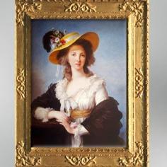 D'après la duchesse de Polignac en chapeau de paille, 1782, Élisabeth Louise Vigée Le Brun. (Marsailly/Blogostelle)