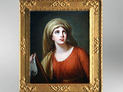 D'après un portrait de Lady Hamilton en Sibylle de Cumes, 1792, Élisabeth Louise Vigée Le Brun. (Marsailly/Blogostelle)