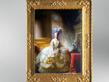 D'après un portrait de la reine de France, Marie-Antoinette en souveraine, 1785, Élisabeth Louise Vigée Le Brun. (Marsailly/Blogostelle)