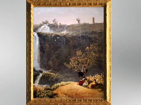 D'après Les Cascatelles de Tivoli, 1790, Élisabeth Louise Vigée Le Brun. (Marsailly/Blogostelle)