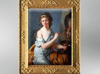 D'après un autoportrait de Marie Guilhemine de La Ville Leroux, 1786 , élève de Vigée Le Brun. (Marsailly/Blogostelle)