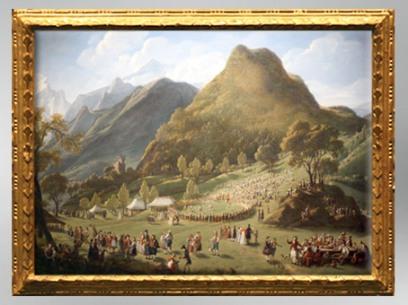 D'après La fête des bergers à Unspunnen, 1808-1809, Élisabeth Louise Vigée Le Brun. (Marsailly/Blogostelle)