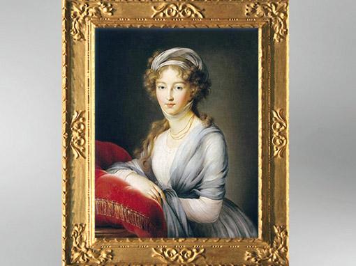 D'après le portrait de la duchesse Elizaveta Alexeievna, 1795, Élisabeth Louise Vigée Le Brun. (Marsailly/Blogostelle)