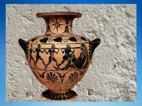 D'après un vase à eau (hydrie), Ulysse et le cyclope Polyphème, Cerveteri, 520 avjc, Art Grec. (Marsailly/Blogostelle)
