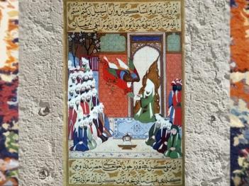 D'après l'Archange Gabriel et le Prophète, page du Siyar-i Nabi, 1594-1595 apjc, Turquie,art Musulman. (Marsailly/Blogostelle)