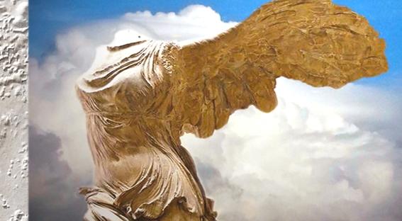 D'après la Victoire de Samothrace, marbre de Paros, vers 190 avjc, art Grec. (Marsailly/Blogostelle)