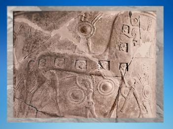 D'après le détail d'un vase, le Cheval de Troie, 670 avjc, art grec, Mykonos. (Marsailly/Blogostelle.)