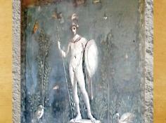 D'après le Dieu Mars, fresque de Pompéï, Ier siècle avjc, art romain, Italie. (Marsailly/Blogostelle.)