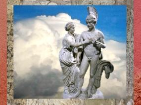 D'après L'empereur et son épouse, sous les traits de Mars et Vénus, Hadrien, 120-140 apjc, marbre, art romain. (Marsailly/Blogostelle.)