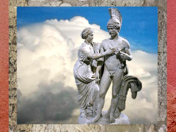 D'après l'empereur et son épouse, sous les traits de Mars et Vénus, Hadrien et Sabine (dont la tête est changée plus tard), 120-140 apjc, marbre, art romain. (Marsailly/Blogostelle)