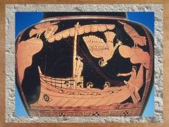 D'après un stammos, Ulysse et les Sirènes, céramique à figures rouges, 480-470 avjc, Art Grec. (Marsailly/Blogostelle.)