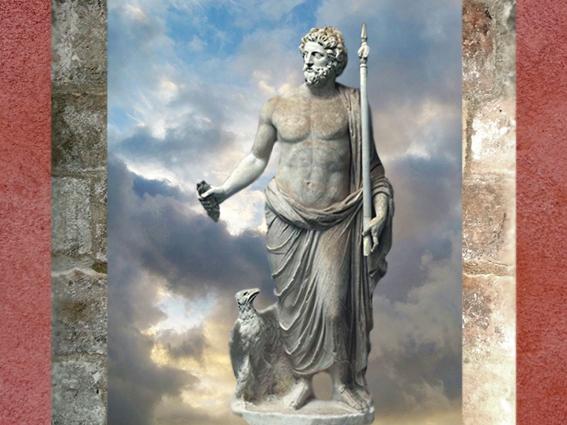 D'après une statue de Jupiter et son Foudre, marbre, vers IIe siècle apjc, art romain. (Marsailly/Blogostelle)