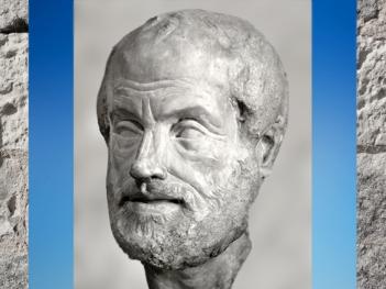 D'après un portrait d'Aristote, copie romaine du Ier ou IIe siècle apjc, d'un bronze de Lysippe. (Marsailly/Blogostelle)