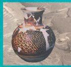 10 céramique peinte, style de Halaf, 5000-4000 ans avjc, Mésopotamie, Irak, Bagdad. (Marsailly-Blogostelle.)
