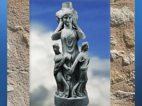 D'après la déesse Hécate, IVe siècle apjc, mithraeum de Sidon, Phénicie, Liban, époque Romaine. (Marsailly/Blogostelle)