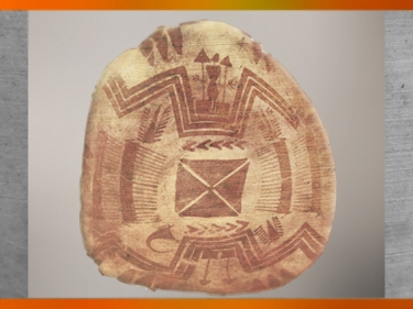 D'après une coupe peinte, décor symétrique, vers 4000 ans avjc, Suse, Iran actuel,période néolithique, Orient ancien. (Marsailly/Blogostelle)