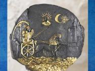 D'après Cybèle et ses Lions, IIIe siècle avjc, plaque en argent doré, sanctuaire de Aï Khanoum, Afghanistan. (Marsailly/Blogostelle)