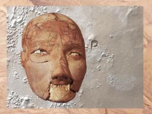 D'après un crâne enduit et modelé, VIIe millénaire avjc Jéricho, Palestine, Levant Néolithique. (Marsailly/Blogostelle)