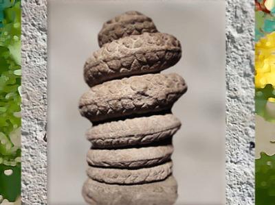 D'après le Serpent aux Sept spires, sept planètes et sept jours, Mithraeum de Bordeaux, IIIe siècle apjc, Gironde, Gaule Romaine. (Marsailly/Blogostelle)