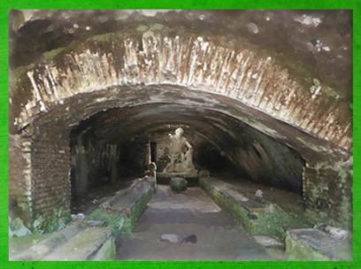 D'après l'un des sanctuaires de Mithra, Ostie, Italie, époque Romaine. (Marsailly/Blogostelle