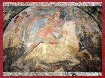 Mithra tauroctone, Sol et le Corbeau, II siècle apjc, mithraeum de Capoue, époque Romaine. (Marsailly/Blogostelle)